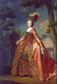 Maria Feodorovna by Alexander Roslin (1777) (identical to a paler version  - probably due to copy quality. No idea which is original colour.)