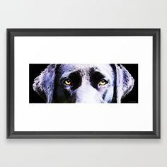 2a77417b9366c Buy Black Labrador Retriever Dog Art - Lab Eyes Framed Art Print by  sharoncummings. Worldwide shipping available at Society6.com.