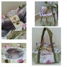 Lacy Purple Rose Shoulder Bag