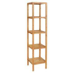 Bamboo Bathroom Shelf 5 Tier Tower Shelves Room Rack Multifunctional Storage Top Homfa