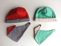 Czapki i chusteczki z dzianiny i dresówki / DIY sweatshirt beanie & scarf
