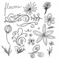 easy flowers to draw by hand for when Sasha asks me to draw for her haha