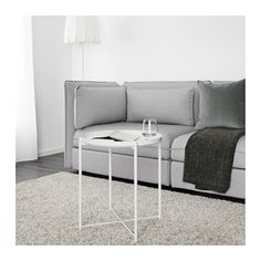 IKEA - GLADOM, Tray table, white, You can use the removable tray for serving. The tray's edges make it easy to carry and reduces the risk of glasses or bowls sliding off. The surface is durable and easy to clean, since it's made from powder-coated steel. Ikea Tray Table, Ikea Coffee Table, Console Tables, Living Furniture, Table Furniture, Home Furniture, Gladom Ikea, White Tray, White White