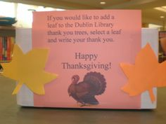 Giving Thanks at the Library