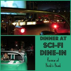 Sci-Fi Dine-In Theater - one of the most fun places you will ever eat at Disney World!