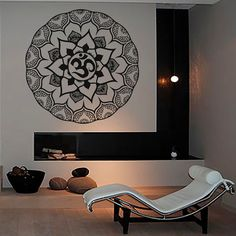 Wall Decals Mandala Indian Pattern Yoga Oum Om Sign Decal Vinyl Sticker  Home Decor Art Murals Bedroom Studio Window MN886 Om Sign, Yoga Studio Decor, Indian Patterns, Murals, Wall Decals, Tattoo Ideas, Mandala, Windows, Bedroom