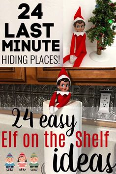 Hiding the Elf every night is fun sure but what happens when you need to hide your Elf on the Shelf fast and you are out of ideas? You watch this Elf on the Shelf video and get some new ones! Check it out for Elf hiding places!