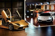 Check out the celebrity car showroom at the Palazzo.