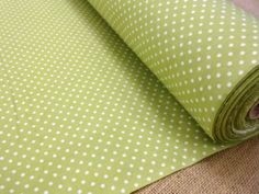 LIME GREEN PIN DOT COTTON POPLIN FABRIC | eBay