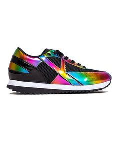 Look at this Y•R•U Black Rainbow Flash Sneaker on #zulily today!