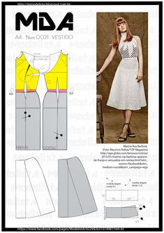 Fashion sewing patterns is very important. If you are a beginner and want to start your fashion sewing, then this beginner sewing patterns can help yo. Beginner Sewing Patterns, Dress Sewing Patterns, Clothing Patterns, Fashion Sewing, Diy Fashion, Ideias Fashion, Diy Clothing, Sewing Clothes, Costura Fashion