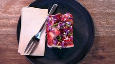 Watch Black Star Pastry's strawberry and watermelon cake being made
