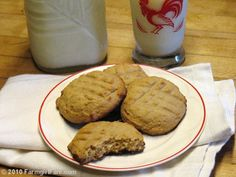 Sugar Free Honey Peanut Butter Cookies by Farmgirl Susan, via Flickr -- super easy & with ingredients you probably already have!