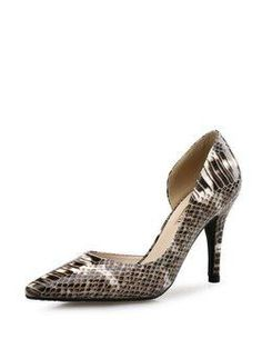 bb7b238e9d0 Women s Style Pumps and D orsay Heels Silver Metallic Stiletto Heels ...