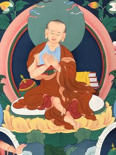 Nagarjuna (Tib. ཀླུ་སྒྲུབ་, Ludup  Nagarjuna) – one of the six great commentators on the Buddha's teachings, the great scholar Nagarjuna (c.150-250) is revered as an unsurpassed master by all Buddhist schools.  #ColoringForMeditation #TibetanArt #TibetanColoring #Thangka #BuddhistArt #BuddhistColoring