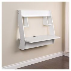 Studio Floating Desk White Prepac Target