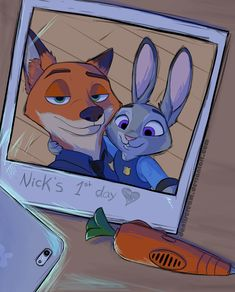 Zootopia - Nick Wilde x Judy Hopps - Wildehopps Disney Pixar, Disney Fan Art, Walt Disney, Cute Disney, Disney Animation, Disney And Dreamworks, Disney Movies, Zootopia Fanart, Zootopia Comic