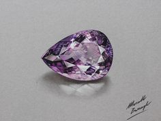Watch on YouTube how I draw this amethyst gemstone http://youtu.be/Rr3bz7KDDoc (HD video)