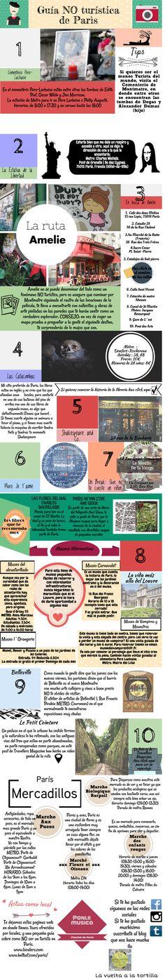 Guía no turística de París #infografia #infographic #tourism