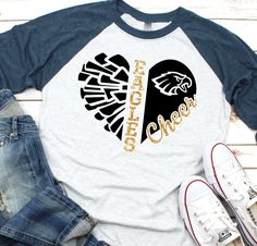 Trends New Design Cheerleading Shirts, Cheer Shirts, Dance Team Shirts, Game Day Shirts, Sports Shirts, Cheerleading Stunting, Cheer Uniforms, Volleyball Drills, Volleyball Quotes