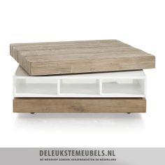 Deze salontafel van het merk Henders Hazel is praktisch en heeft een rechte vormgeving. De salontafel is gemaakt van acacia hout in mountain grey met een vintage look in natuur kleur. Het oppervlak is handmatig oud gemaakt! Het bovenblad van de tafel kun je draaien, waardoor je extra ruimte creëert, hoe gaaf! http://www.deleukstemeubels.nl/nl/kozani-salontafel-3-niches---1-draaiend-deel/g6/p1034/