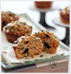 Mini Obstkuchen mit Brotmehl