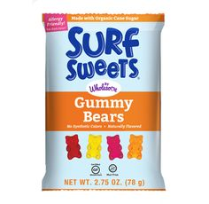 Wholesome Surf Sweets Gummy Bears; chewy side but no gelatin