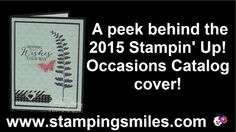 The 2015 Stampin' Up! Occasions Catalog starts January 6!  How about about a sneak peek of a card made with a few of the new Occasions Catalog products?  Shop in my online store http://www.shopwithshelly.com for 2014 Stampin' Up! Holiday Catalog products through January 5, 2015  Subscribe to The Stamper's Insider! http://www.thestampersinsider.com