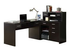 Monarch Specialties Hollow-Core L-Shaped Home Office Desk, Cappuccino -  http://www.wahmmo.com/monarch-specialties-hollow-core-l-shaped-home-office-desk-cappuccino/ -  - WAHMMO