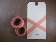 peach masking tape from TOP HAT. For the baby albums!