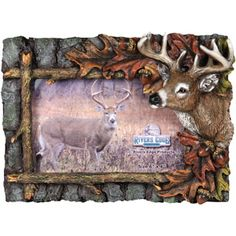 """Rivers Edge Products 4"""" x 6"""" Resin Deer Themed Picture Frame"""