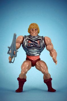"""He-Man had to be one of my favorite toys as a kid. I was so happy when I got """"Battle Damage"""" He-Man!!"""