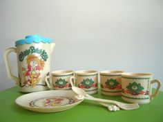 Vintage 1980's Cabbage Patch Kids Tea party - SO CUTE