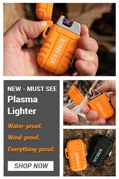 Survival Frog Plasma Lighter Ignite a fire with the push of a button using your new favorite lighter. The Outdoor Tesla waterproof, windproof, electric lighter needs no butane or adjustments for altitude. Camping Survival, Emergency Survival Kit, Emergency Preparation, In Case Of Emergency, Wilderness Survival, Survival Tools, Outdoor Survival, Survival Prepping, Survival Supplies