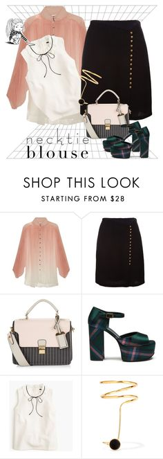 """""""Necktie Blouse Contest"""" by petalp ❤ liked on Polyvore featuring Zimmermann, 3.1 Phillip Lim, New Look, Mulberry, J.Crew, Paula Mendoza and ootd"""