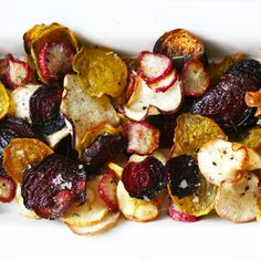Roasted Herbed Veggie Chips Recipe