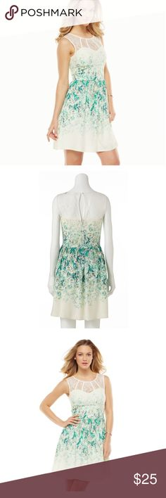 Lauren Conrad lace and floral fit & flare dress Size 2 EUC. PRODUCT FEATURES Shirred waistline Illusion sweetheart neckline Sleeveless Fully lined Fit & flare styling Keyhole button-back closure Back zipper  Dress: rayon Lining: polyester Machine wash LC Lauren Conrad Dresses Mini