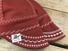 bb4ba38bda8e5 2 Pk Burgundy Canvas Size 7 1/2 Welding Caps Custom Welding Caps, Hat