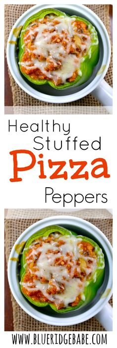 Healthy Stuffed Quinoa Pizza Peppers - all the flavor of pizza with none of the guilt!