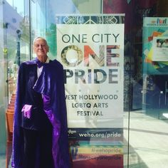 Robert Patrick is one of the first gay playwrights in the USA and he's part of today's #lgbtq history tour!!! #onecityonepride #weho #history