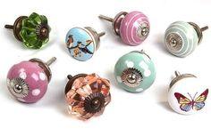 Gemischter Set Kinder Glas und Keramik Grün & Rose Rosa Schrank Griff x8 Pack (MG-169) - 'Vintage-Chic' TM Produkt: Amazon.de: Küche & Haushalt