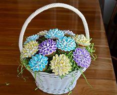 DIY Pretty Marshmallow Flower Cupcakes