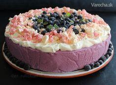 Čučoriedková torta so snehovými pusinkami - Recept