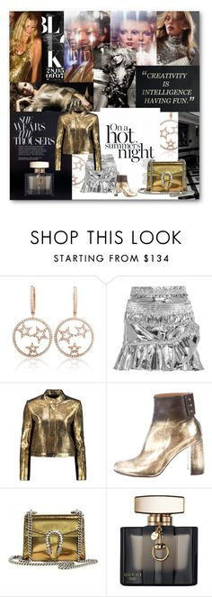 """""""#Metalic"""" by nikkisg ❤ liked on Polyvore featuring Angelo, StyleSaint, MAC Cosmetics, Isabel Marant, Raoul, STELLA McCARTNEY, Gucci and metalic"""