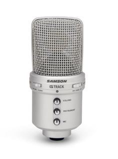 Large, 19mm diaphragm studio condenser microphone USB audio interface with 16-bit, 48kHz resolution Plugs directly into any computer with a USB input, no drivers required