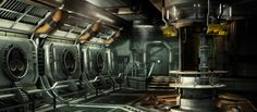 Space Lab, Dead Space, Concept Art, Industrial, Image, Videogames, Studios, Sci Fi, Environment