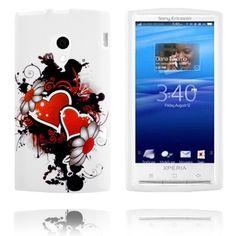 Symphony (To Hjerter - Sort) Sony Ericsson X10 Deksel