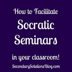 A great how-to guide for using socratic seminar to engage readers!  Complete with free handout for students to get you started!