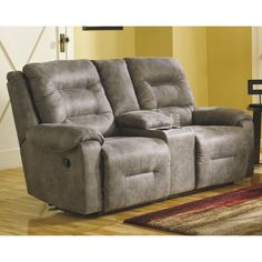 Brilliant Copper Grove Odessa Smoke Grey Reclining Loveseat With Gamerscity Chair Design For Home Gamerscityorg