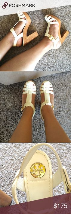 Tory Burch Chunky Heels Chunky Heels. Sz 7. Leather upper leather lining wood/man made sole. 100% authentic. minor scuffing around toe. Just gorgeous! Open to offers. Tory Burch Shoes